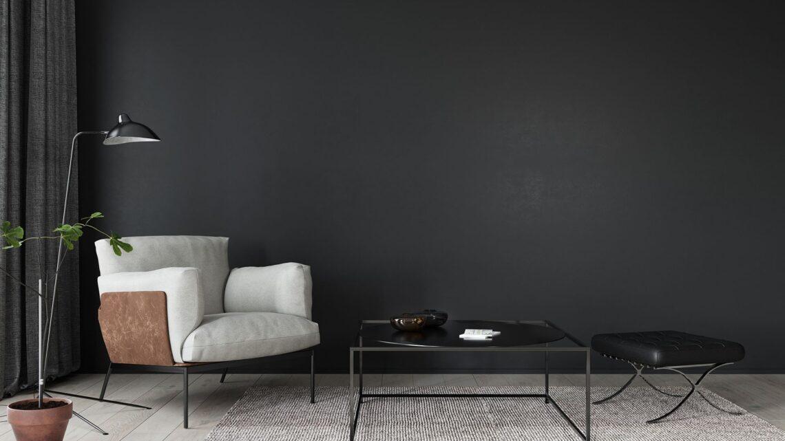 Est-ce une bonne idée de décorer le salon avec des meubles sombres?